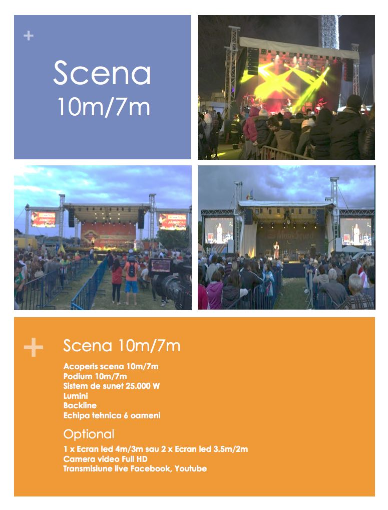 Inchiriere Scena si Sonorizare 10m/7m